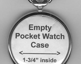 Empty Pocket Watch Case