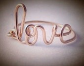 Love ring,  Name ring, Bridesmaid gift, Sister gift, word