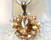 Golden Sunrise Swarovski Crystal Necklace