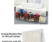 Portable Sewing Machine Mat with Thread Catcher pdf Sewing Pattern