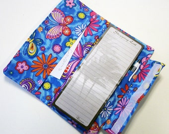 Shopping List with Coupon Pocket Clutch pdf Sewing Pattern