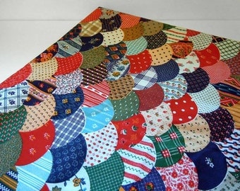Cotton Fabric By the Yard Patchwork Quilt Cotton Calico Fabric Red Blue Green Yellow Fabric