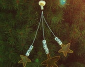 Whimsical Wire Star Christmas Ornament