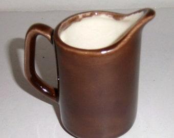Vintage Brown Ceramic Creamer - Vintage Small Pitcher - Coffee Creamer - Tea Creamer - Brown Pottery Creamer - Mini Pitcher