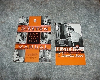 1936--DISSTON--Saw Tool And File MANUAL--Plus Advertising Pamphlet
