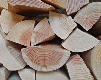 Decorative Logs, Rustic Split Style, to stack and display in empty alcoves or fireplaces.