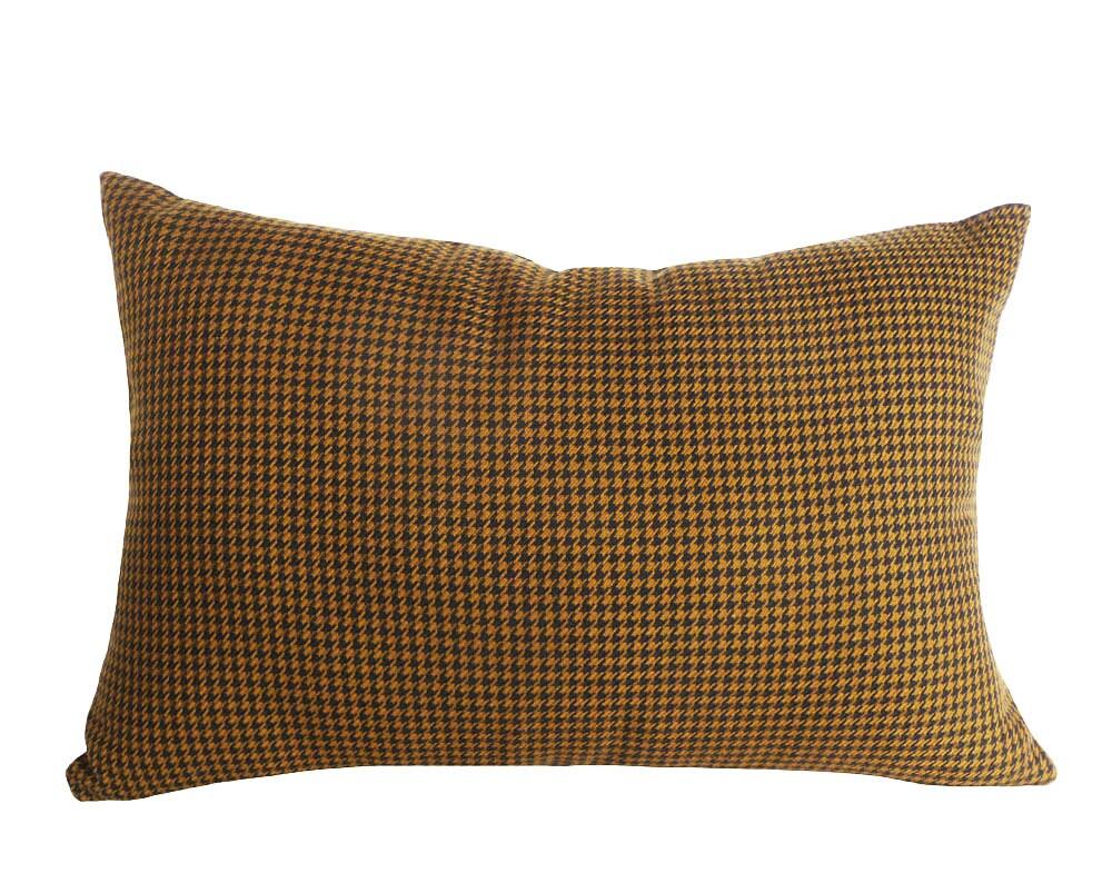 kupfer braun hahnentritt kissen mens brauner wolle schwarz. Black Bedroom Furniture Sets. Home Design Ideas