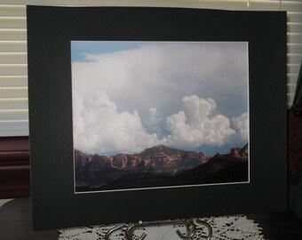 Matted, Arizona, Mountains, Red Rock State Park, Sedona, AZ, Fine Art, Photograph, Print, 8 x 10, Metallic, OOAK