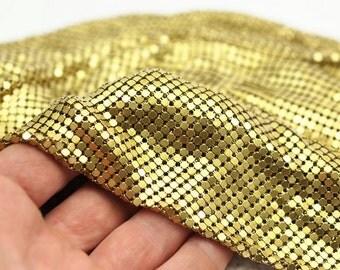 Brass Fabric Chain, Raw Brass Mesh (1000mmx400mm)  Z148