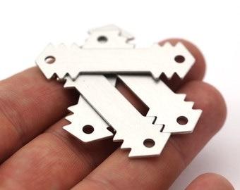 10 Aluminum Arrow Stamping Connector  (46x14 Mm)  B0177