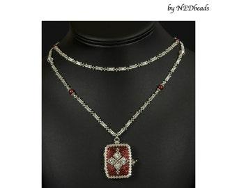 Princess Natalia's Locket - A Beadwoven Necklace Tutorial