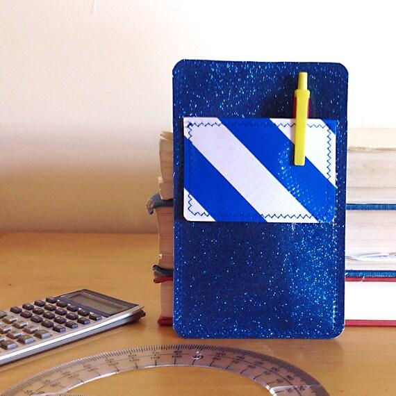 Nerd Power Vinyl Pocket Protector In Ocean Blue By Annebvinyl