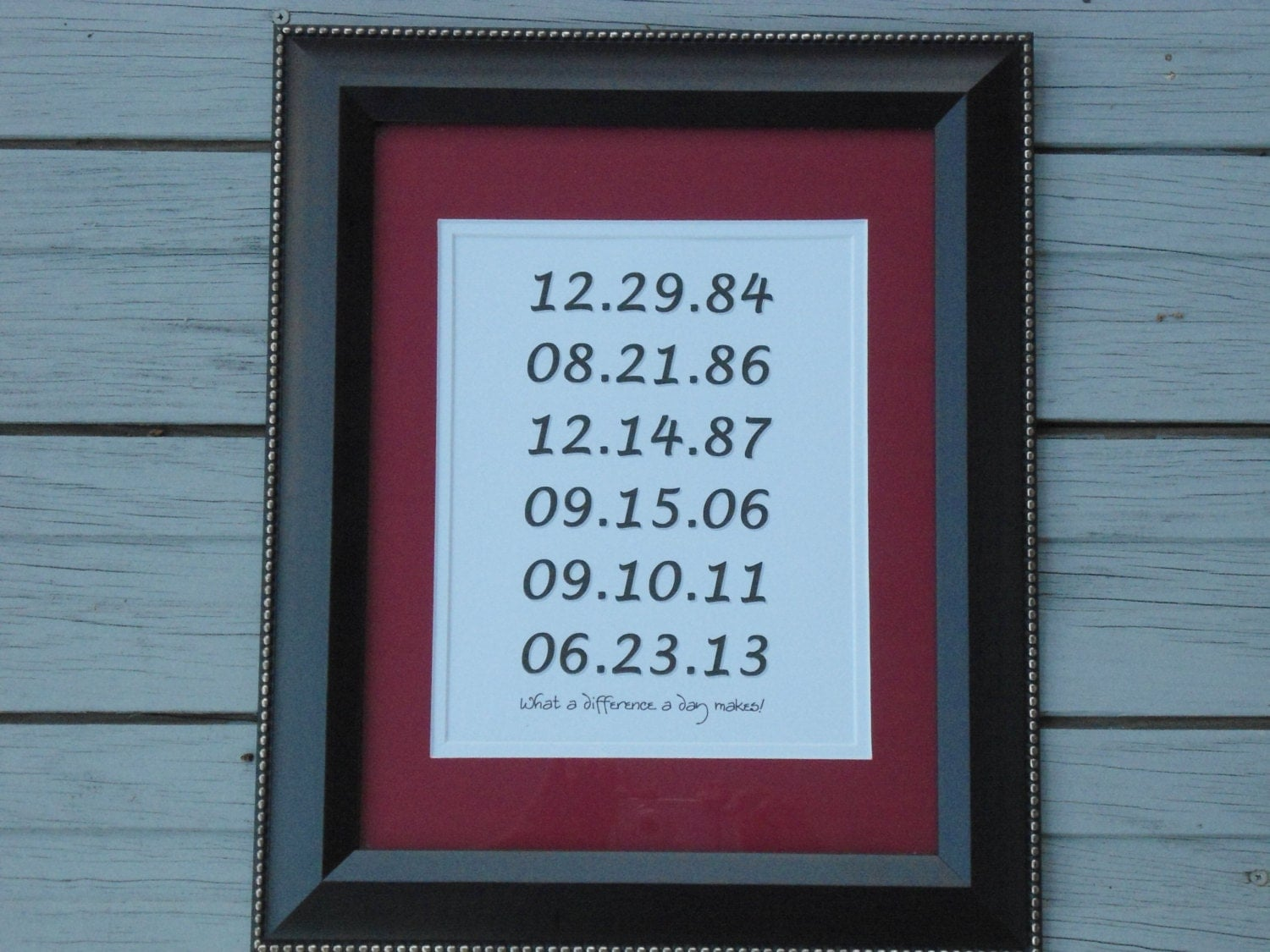 Custom gift mom dad family sign wedding special dates for Gifts for first apartment