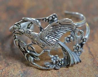 Fowl & Flowers Cuff Bracelet