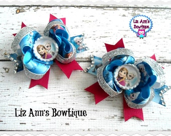 Anna  Princess Boutique Bottle Cap Hair Bow - OTT over the top BOW