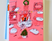 Funny Christmas Cat Card - Visit from St. Nick