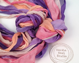 Silk Ribbons Ice Cream Sorbet Palette Silky and or Fairy Ribbons
