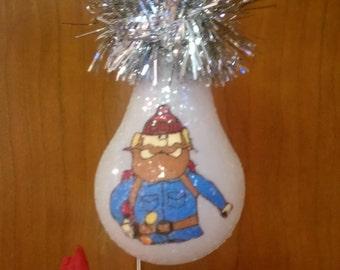 Ukon Cornelious keepsake light bulb ornament