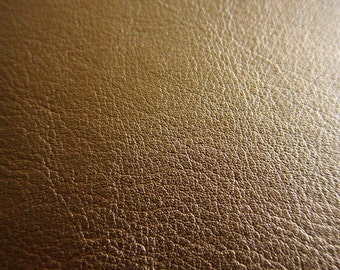 Faux Leather Fabric in Lambskin Pattern - Bronze - Large Fat Quarter  - Vegan Leather