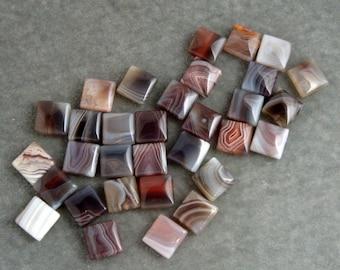 Full Strand Botswana 12mm Square Gemstone (30)