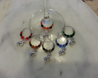 Clydesdale Horse Lover  Wine Charms