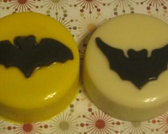 One dozen bat design chocolate covered sandwich cookie party favors Halloween treats