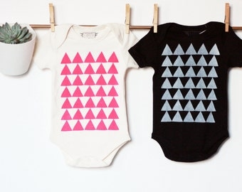 Mountains of Montana - Organic Cotton - hip baby bodysuit - screenprint