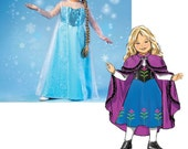 SALE FROZEN PATTERN / Make Disney Princess Elsa and Anna Costumes /Sizes 3 to 8 And 10 to 14