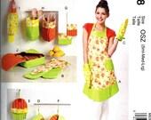 Sale! KITCHEN ACCESSORIES PATTERN / Make Apron - Oven Mitts - Potholder- Organizers - Towel - Plastic Bag Holder