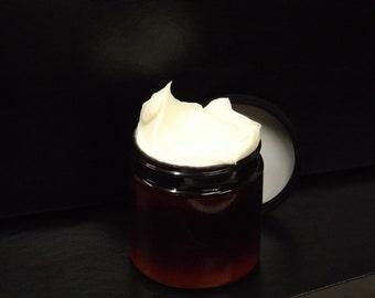 Argan Goat Milk lotion | creamy Mango Butter + HEMP | 6 oz BIG jar | raw honey face cream made fresh! body moisturizer + hair care