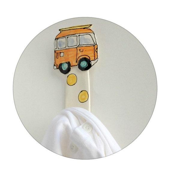 Items Similar To VW Van Wall Hook Nursery Decor Wall Hook