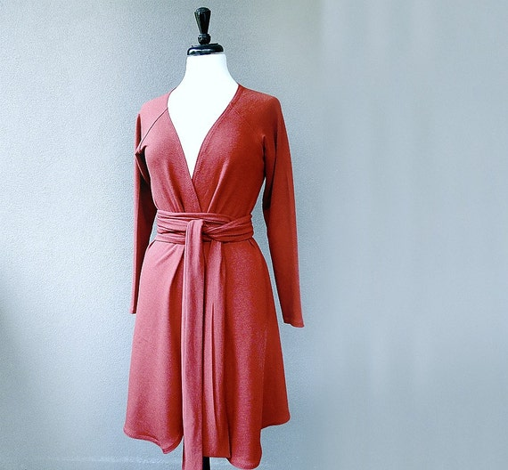 Organic cotton jacket with a belt wrap top in organic for Best custom made dress shirts online
