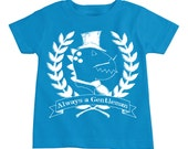 Always a Gentleman Dinosaur Graphic Toddler Tees By TrulySanctuary, Great Baby Shower Gift, First Birthday Gift, Or Party Favor