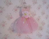 Dollhouse Child's ballet tutu, mini dance dress, pink tutu, nursery decoration, childs bedroom dec  , twelfth scale miniature
