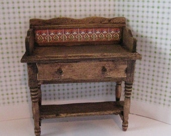 Twelfth scale Washstand, a dollhouse miniature