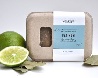 Bay Rum Bar with seaweed and shiitake mushrooms... great for face and body