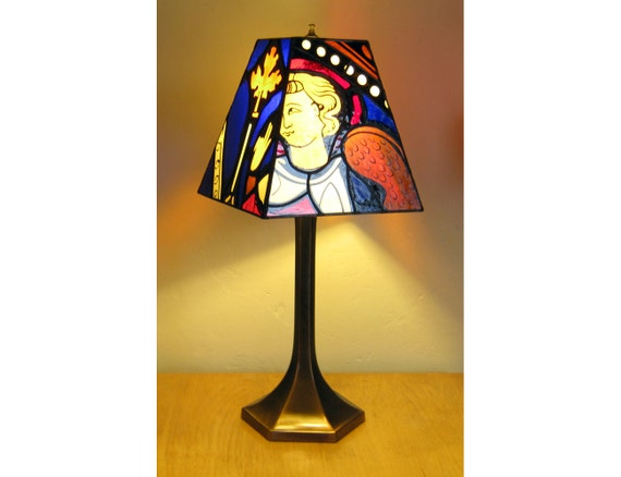 Stained Glass Lamp - Hand Painted Stained Glass - Annunciation, Church of St. Florian