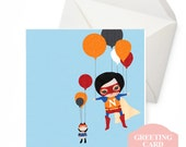 Greeting Card - Lift Off