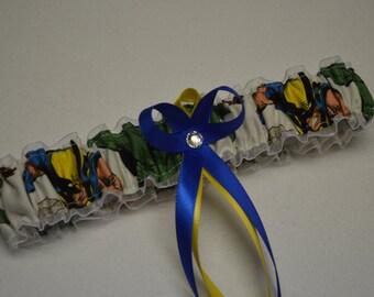 Handmade wedding garter toss WOLVERINE Marvel Super Hero wedding garter