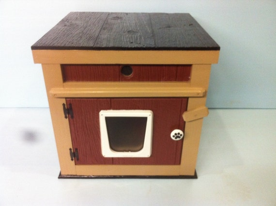 LG HEATED outdoor CAT house /2 doors/Dual Heat (Ships Next Bus. Day), bed shelter