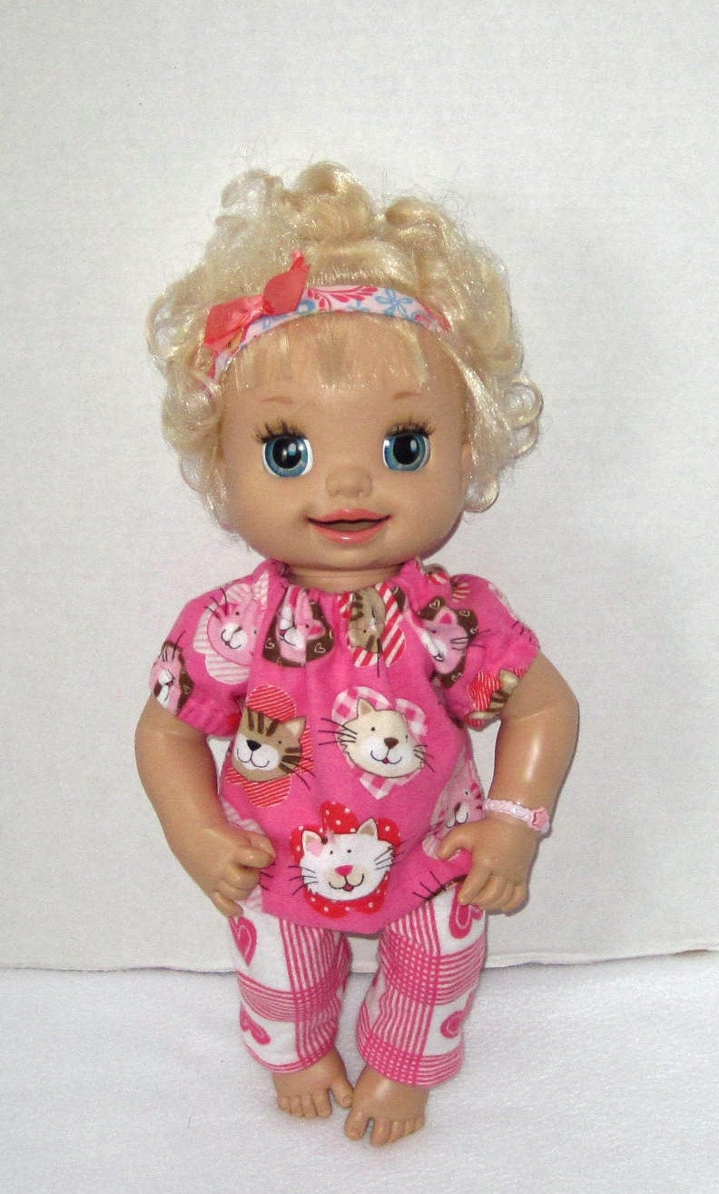 Baby Alive Kitty Cat Hearts Pajama Set Doll Clothes Made in