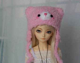 Pink BJD Kitty Cat Hat for MSD, 1/4 Doll, Minifee ~New~