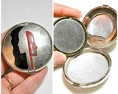 Reserved for David //////   1920's Art Deco Deauville Compact by Richard Hudnut - Rare