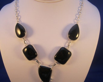 Natural Black Onyx Necklace