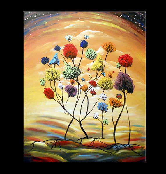 lollipop tree abstract art painting canvas wall art xl pop
