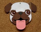 2016 Pug wall Calendar - PRE ORDER