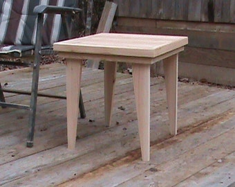 """Small Cedar Patio Table - Plant Stand - Side Table - Outdoor Table - 17"""" Wide x 17"""" Deep x 17 1/2"""" Tall"""