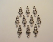 Alice Charms- ten charms- antiqued silver