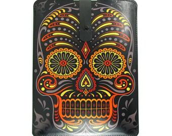 Leather iPad mini case / Tablet Case - Sugar Skull