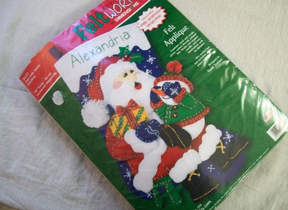 Felt Christmas Stocking Craft Kit Dimensions Feltworks